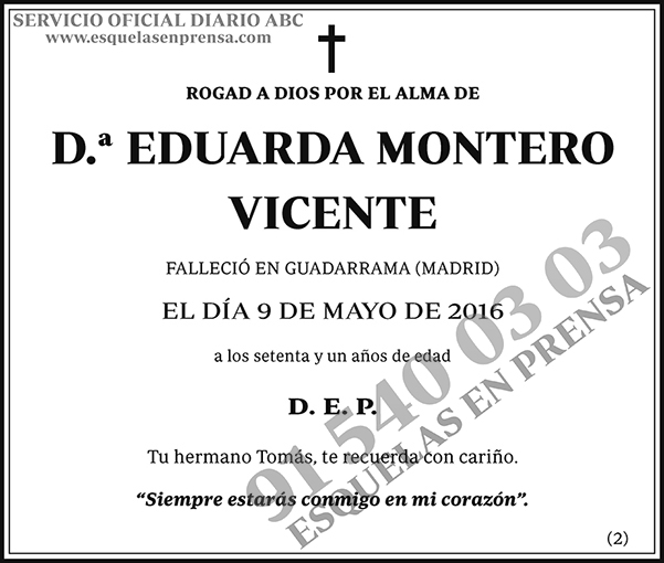 Eduarda Montero Vicente
